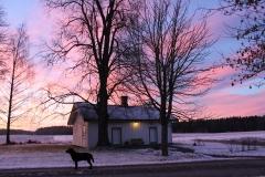 Kubbehuset i desemberlys