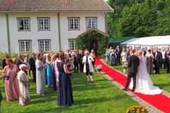 Bryllupsfeiring på garden